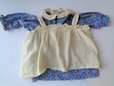 "Antique Georgene Raggedy Ann Blue Flowered Dress & Apron for 22"" Doll 1930s"