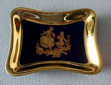 "Limoges France Pin Tray Fragonard Gold 3 1/2"" x 2 3/4"" Mint"