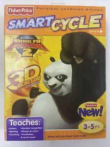 Fisher Price Smart Cycle Physical Learning Arcade KUNG FU PANDA 2 3D Racing