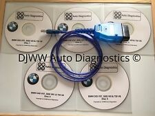 BMW DIS V44 V57 SSS V61 & TIS V8 GT1 INPA EDIABAS DIAGNOSTIC SOFTWARE & USB LEAD