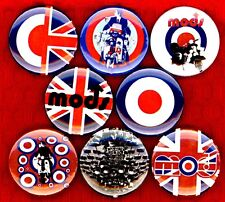 "Mod Style 8 NEW 1"" buttons pins badges skinhead scooter boy england symbol hip"