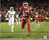 Tyreek Hill Kansas City Chiefs Autographed 8x10 Running Photo w/GA coa