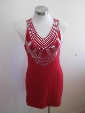 Ladies Red Sequined Top/Dress Size S - BRAND NEW