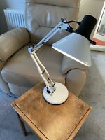 Fase Anglepoise Lamp Vintage 1970s Desk Light Adjustable White Enamel Spanish