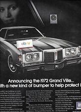 Pontiac Grand Ville per 1972 con Nuovo Paraurti Proteggere It 25.4cm x 31.8cm