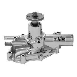 Tuff Stuff Water Pump 1594NA; High Volume Chrome Aluminum for Ford 5.0L V8