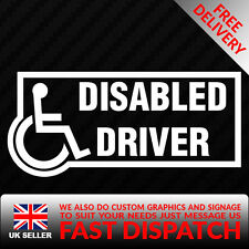 DISABLED DRIVER BUMPER STICKER FUNNY CAR WINDOW GRAPHIC STICKER VINYL DECAL