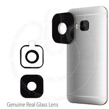 NUOVO HTC One M9 Real Glass Posteriore Indietro Macchina Fotografica REPLACEMENT LENS COVER CON ADESIVO