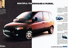 Publicité Advertising 107  1999  Fiat Multipla  (2pages) M. Schumacher