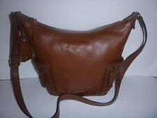 BROWN Leather Fossil EMERSON SMALL HOBO CROSSBODY Purse Bag $198.00 ZB6642