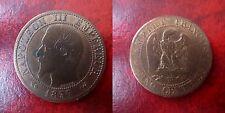 5 centimes 1857 W - rare - à moitié prix