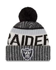 New Era Oakland Raiders Black 2017 Sideline Official Sport Knit Hat - NFL nwt