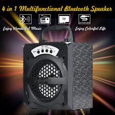 Super Bass Portable Outdoor Wireless Usb/tf/aux/ FM Radio Bluetooth Speaker UK 130bt