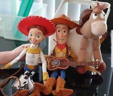Disney/Pixar TOY STORY 2002 Pullstring WOODY JESSIE BULLSEYE GUITAR ROPE HATS