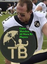 New Orleans Saints Football Jersey Tom Benson Commemorative Patch Drew Brees