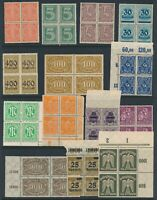 Lot Stamp Germany Reich Inflation Blocks Airmail Pigeon Officials MNH 2