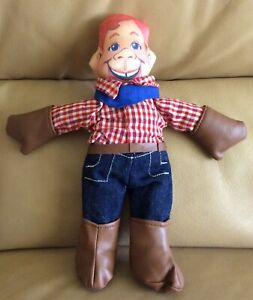 """HOWDY DOODY DOLL STUFFED TOY VINTAGE 10"""" THREE CHEERS APPLAUSE W/Boots + Gloves"""