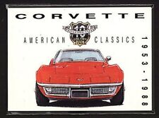 CORVETTE 1953-88 - Collectors Card Set - Roadster Sting Ray T-Top Convertible