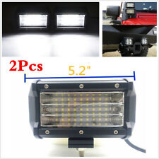 2Pcs Car Offroad Tri-row 27LED 324W 5inch LED Work Light Flood Beam Light Bars