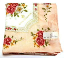 Royal Doulton Handkerchief scarf bandana Cotton Pink Collectible Auth New