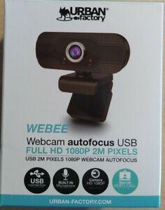 Webcam Urban Factory Webee -  - 2 MP - angle de vue 90° - autofocus -garantie
