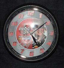 NASCAR Dale Earnhardt Jr. Coca Cola Metal and Glass Clock