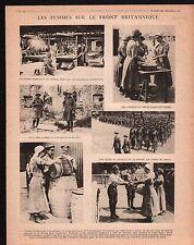 WWI British Army Women Nurces/La Meuse Poilus Chattancourt 1917 ILLUSTRATION