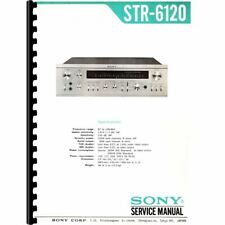Sony STR-6120 Stereo Receiver Service Manual (Pages: 47) 11x17 Drawings