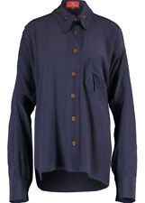 VIVIENNE WESTWOOD WOMENS 'SQUIGGLE KRALL' NAVY SHIRT *IT 40/UK 8-10* BNWT *£575*