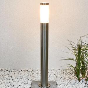 CGC Garden Decking Post Light Bollard Outdoor Tall Path Bright Stainless Steel