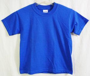 Gildan Ultra Blend Heavyweight Royal Blue T-shirt Youth size Small