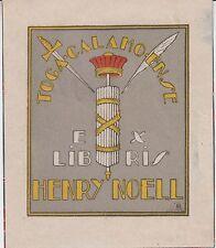 Roussillon : Ex-libris Henry NOELL dessiné par Edmond DES ROBERT (1878-1955).