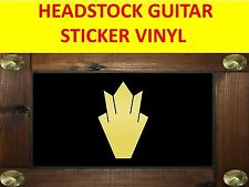 HEADSTOCK CROWN GOLD SG STICKER GUITAR VISIT OUR STORE WITH MANY MORE MODELS