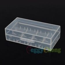 10pcs White 18650 CR123A 16340 Hard Plastic Battery Case Holder Box Storage 10x