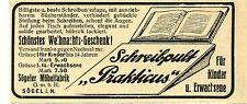 Sögeler Möbelfabrik Sögel  SCHREIBPULT PRAKTIKUS Historische Reklame von 1907