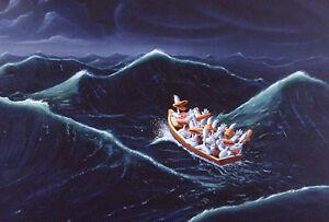 Michael Bedard SHIP OF FOOLS Sitting Ducks LARGE Fine Art Print
