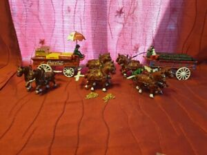 Miscellaneous Lot of Cast Iron Coca Cola Horse Drawn Wagon, Some Good  & Some...