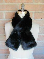 Unreal Fur Collar Scarf Faux Black Mink