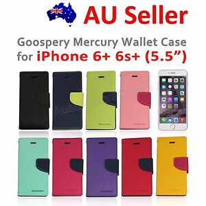 """Genuine Goospery Mercury Leather Wallet Case Cover for iPhone 6+ 6s plus 5.5"""""""