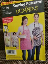 Simplicity 1140 Apron Easy Sewing Beginner Pattern Adult Teen Unisex New Uncut