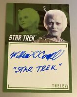 STAR TREK TOS CAPTAINS COLLECTION A11 WILLIAM O'CONNELL INSCRIPTION AUTOGRAPH