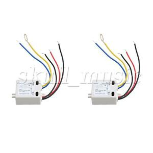 2pcs ON-OFF Plastic Touch Switch for Saving Lamp Switch 120V White XD-608