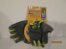 Go Fit Large Womens ProTrainer with Pearl-Tac Grip Gray Training Gloves New