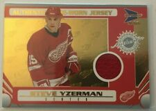 2003-04 Pacific Prism: Authentic Game-Worn Jersey-Steve Yzerman