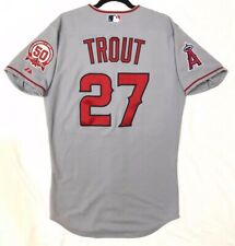AUTHENTIC MAJESTIC, SIZE 40 MEDIUM, LOS ANGELES ANGELS, MIKE TROUT Jersey