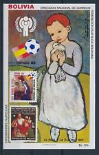 [59360] Bolivia 1983 World Cup Football Pigeon Painting Picasso MNH Sheet