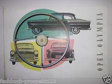 Prospekt Brochure original OPEL OLYMPIA RÜSSELSHEIM 1956 OLDTIMER SAMMLER RAR