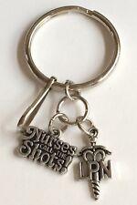 LPN Nursing Caduceus Keychain Handbag Purse Tag Zipper Pull Graduation Gift USA