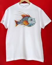 NUOVO Unico Unisex Collare Rotondo T-shirt con Drago di Taglia Media Manica Corta