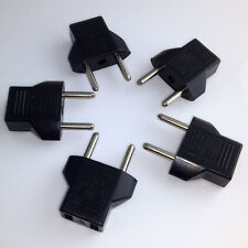 5pcs Us Usa to Eu Europe Ac Travel Charger Power Plug Adapter Outlet Converter